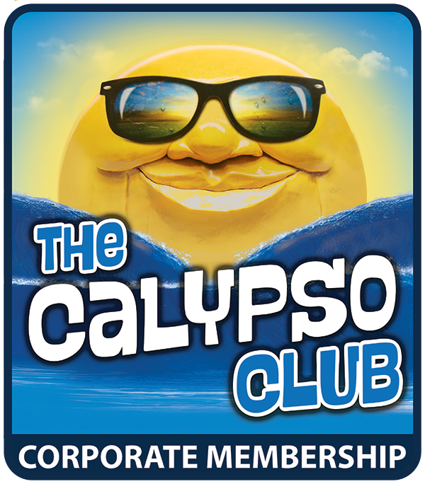 The Calypso Club Logo, Corporate Membership, Water World Sun