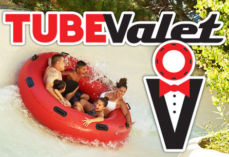 Tube Valet Attractions, Family sliding on a big water tube