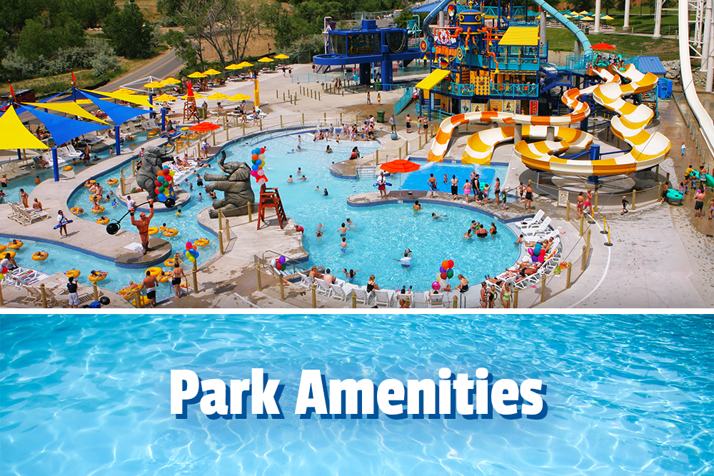 Park amenities, Aerial view of the Big Top area at Water World PArk