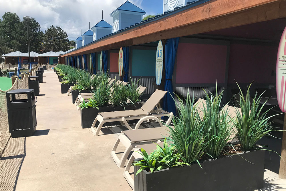 Cabanas at Bay View Area