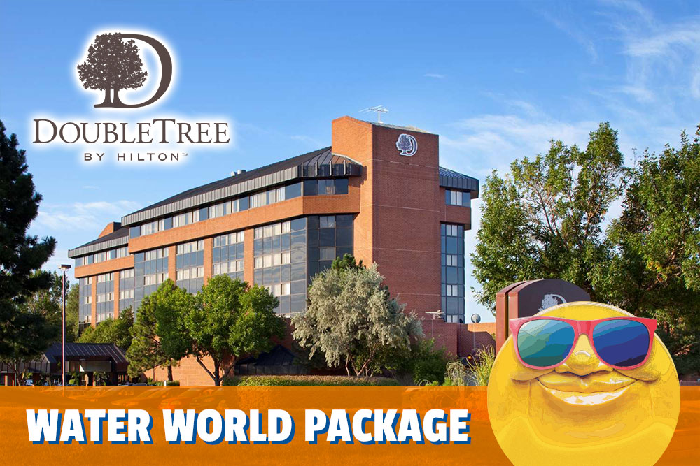 DoubleTree by Hilton Hotel outside view, water world lodging package