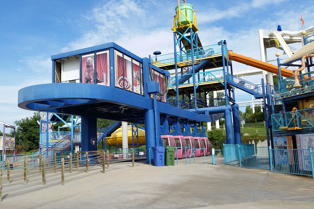 Fun House Express Gondola, aerial view, Water World