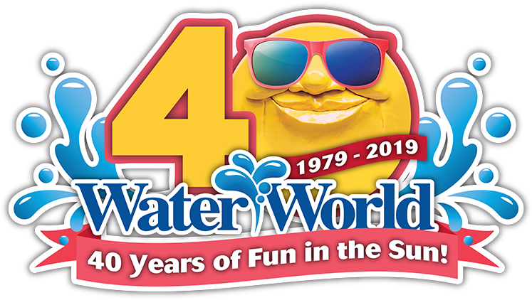 40th Anniversary Logo | Water World Colorado