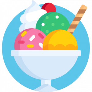 Ice cream, Sundae, Icon