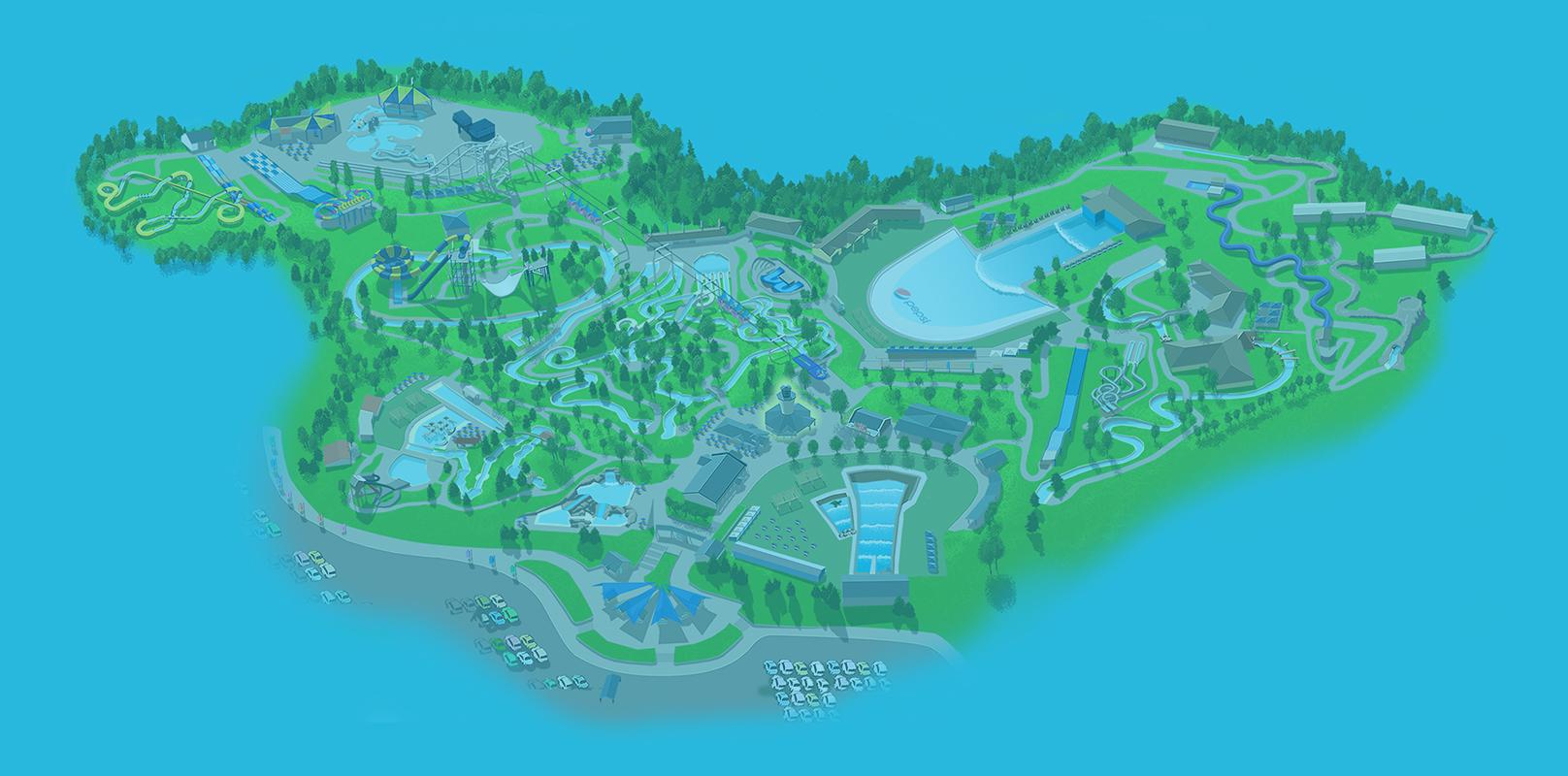 Interactive Park Map Water World Outdoor Water Park Denver Co